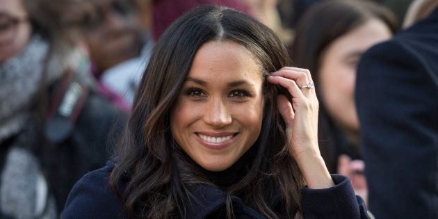 Meghan Markle arrives at the Terrance Higgins Trust World AIDS Day charity fair on Dec. 1, 2017 in Nottingham,