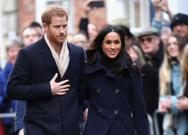 Prince Harry and Meghan Markle in Nottingham, England. on Dec. 1,