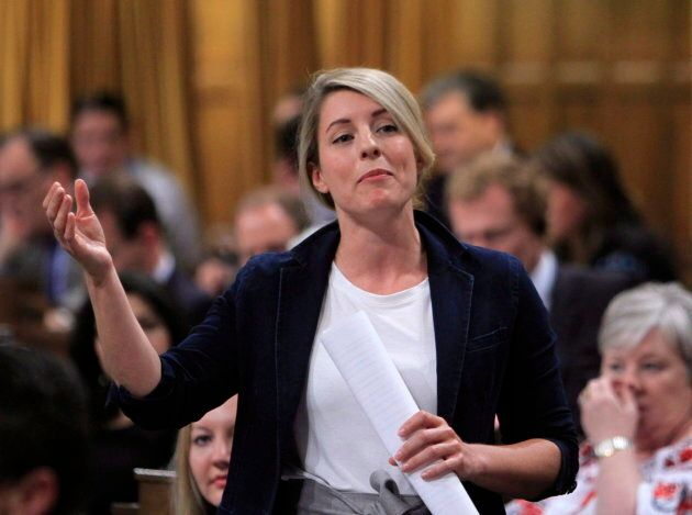 Heritage Minister Melanie Joly stands in the House of Commons during Question Period on Parliament in...