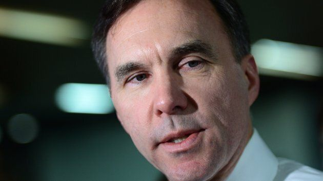 Finance Minister Bill Morneau speaks to media as he arrives for meetings with his provincial and territorial...