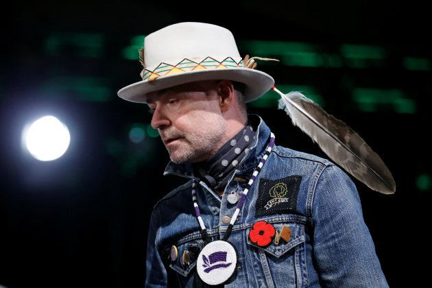 Tragically Hip singer Gord Downie takes part in an honouring ceremony at the Assembly of First Nations...
