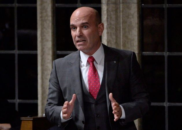 NDP MP Nathan Cullen rises during question period in the House of Commons in Ottawa as pictured on Oct.25,