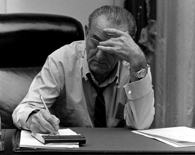 President Lyndon B. Johnson in an undated