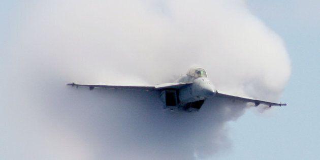 An F/A-18F Super Hornet strike