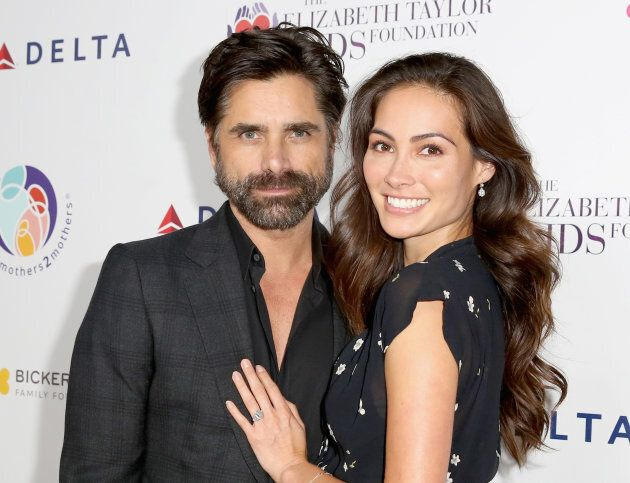 John Stamos and Caitlin McHugh attend The Elizabeth Taylor AIDS Foundation and mothers2mothers dinner...