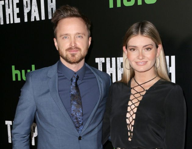 Aaron Paul and his wife Lauren attend the premiere of Hulu's 'The Path' Season 2 at Sundance Sunset Cinema...