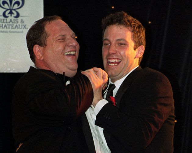 Harvey Weinstein with Ben Affleck at an event benefiting the American Foundation for AIDS Research at...