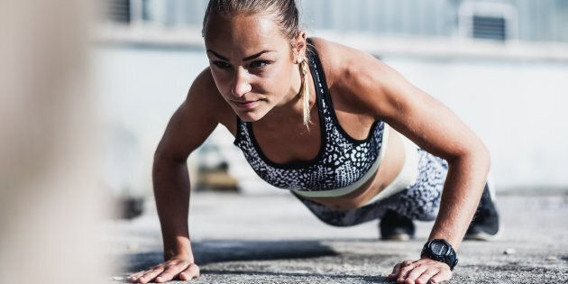 Female Athlete Doing
