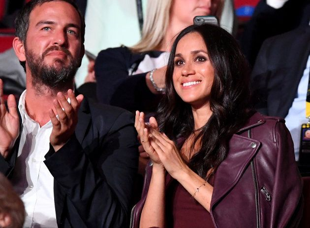 Markus Anderson and Meghan Markle attend the opening ceremony of the Invictus Games.