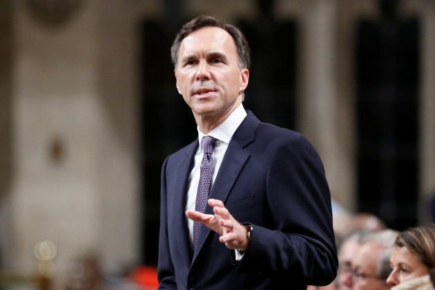 Bill Morneau delivers the Fall Economic Statement in the House of Commons in Ottawa on Oct. 24,
