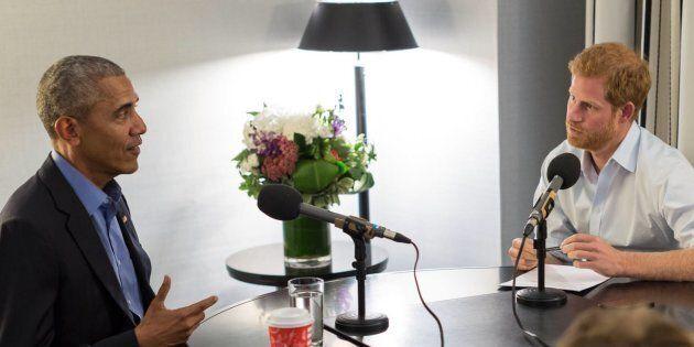 Prince Harry interviews Barack Obama for a BBC Radio 4