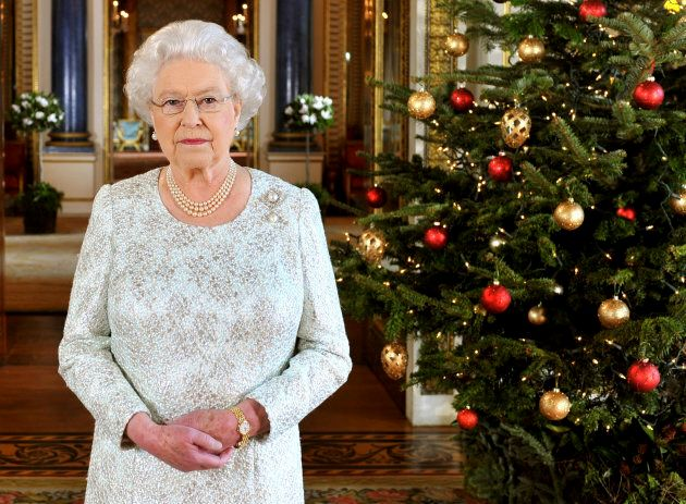 Queen Elizabeth records her Christmas message in 3D from Buckingham Palace, Dec. 7,