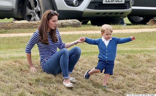 Kate Middleton Shows Off Her Casual Side With Prince George At Gigaset Charity Polo