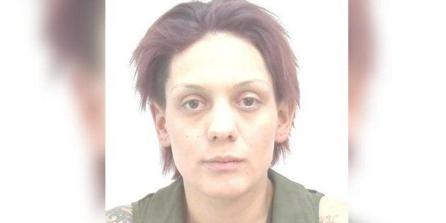 Jessica Vinje is seen in a Calgary police photo. Vinje is wanted in relation to a human trafficking