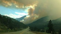 Partly Contained Fraser Canyon Wildfire Destroys
