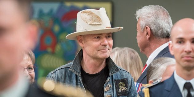 Gord Downie arrives at the ceremony to Present Honours in Recognition of Outstanding Indigenous Leadership...