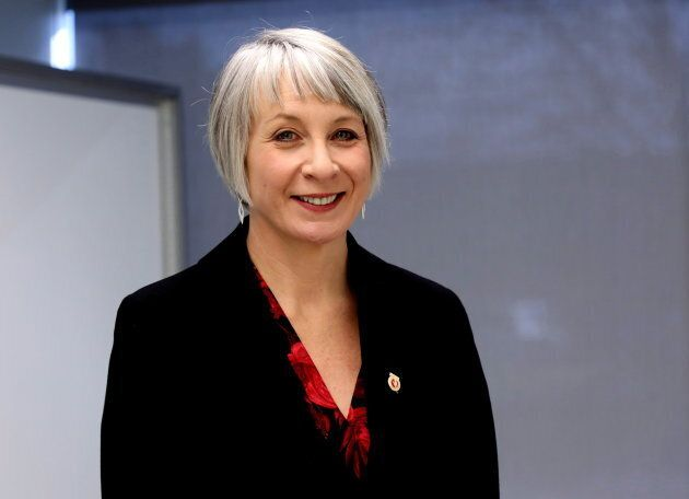 Federal Labour Minister Patty Hajdu is seen at a union facility in Mississauga, Ont., on Dec. 8, 2017.