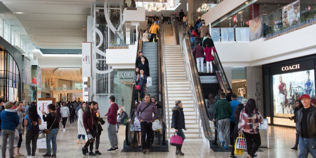 Shoppers at Toronto's Yorkdale mall, which will see the addition of residential units under a planned