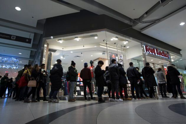 Boxing Day shoppers at Toronto's CF-owned Eaton Centre, Dec. 26,