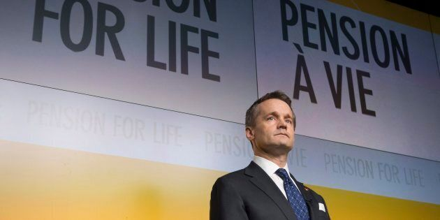 Veterans Affairs Minister Seamus O'Regan is seen during an announcement at National Defence head quarters...