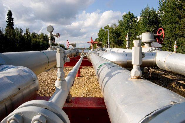 Gasfield pipeline in Alberta.