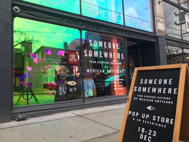 Someone Somewhere pop-up shop in Toronto, Dec. 20,
