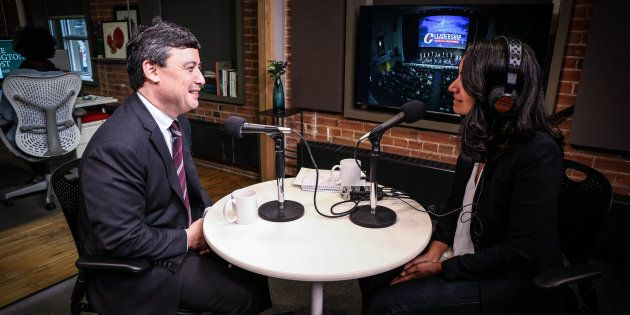 Conservative MP Michael Chong sits down with HuffPost Canada's Althia Raj in Toronto in March of