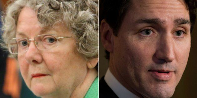 Ethics Commissioner Mary Dawson is shown in a composite with Prime Minister Justin