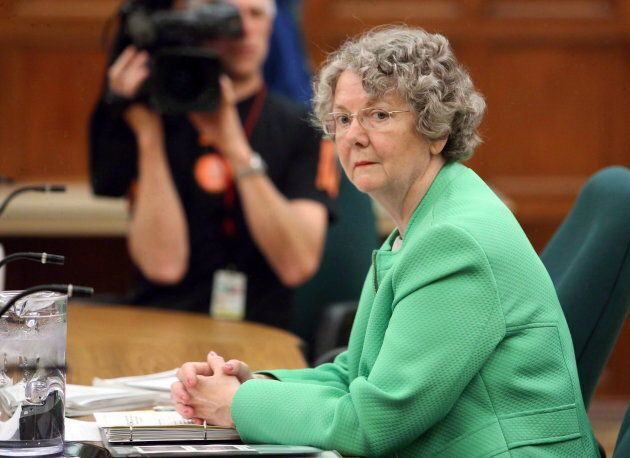 Ethics Commissioner Mary Dawson prepares to appear at Commons committee on Parliament Hill on June 10, 2014.