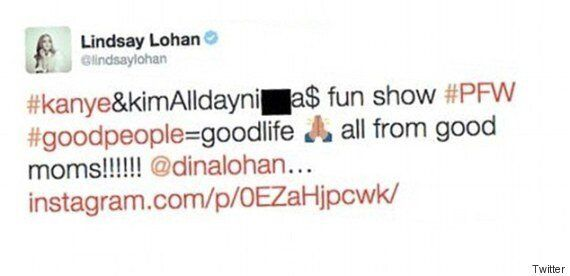 Lindsay Lohan Drops The N-Word, Quickly Deletes