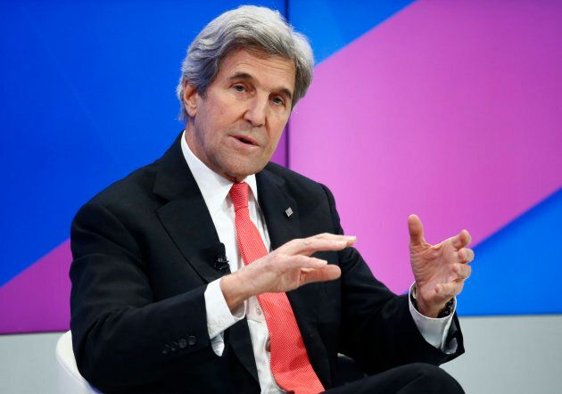Former U.S. secretary of state John Kerry attends the annual meeting of the World Economic Forum in Davos,...