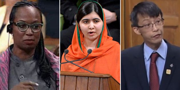 Liberal MP Celina Caesar-Chavannes, Malala Yousafzai, and late MP Arnold Chan delivered memorable speeches...