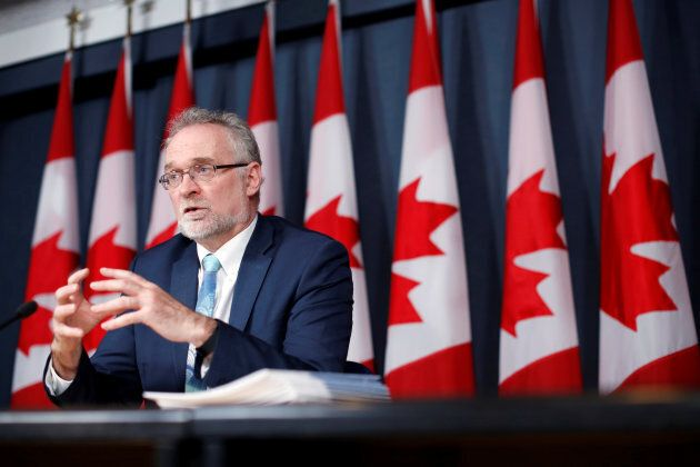 Auditor General Michael Ferguson speaks during a news conference upon the release of his report in Ottawa...