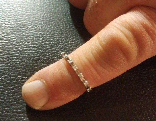 A ring, lost by Trinda Gajek, is shown after being returned in this recent handout
