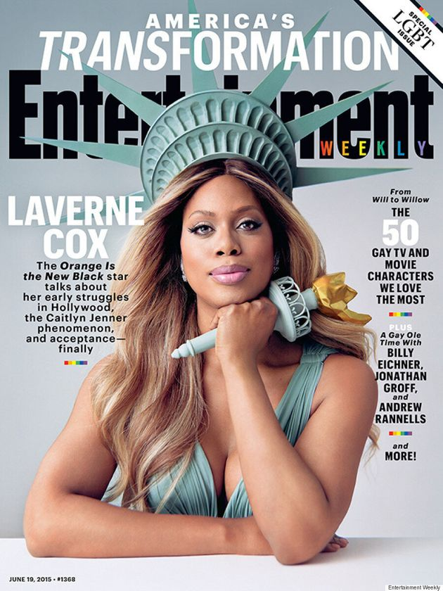 Laverne Cox Channels Lady Liberty On The Cover Of Entertainment