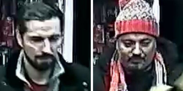 Police in Toronto say these two men are responsible for an assault on Dec.