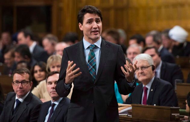 Prime Minister Justin Trudeau responds to a question during question period in the House of Commons on...