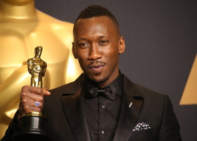 "Mahershala Ali, winner of the award for Actor in a Supporting Role for ""Moonlight,"" at the 89th Annual Academy Awards on Feb. 26, 2017."