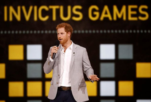 Prince Harry speaks during the closing ceremony for the Invictus Games in Toronto.