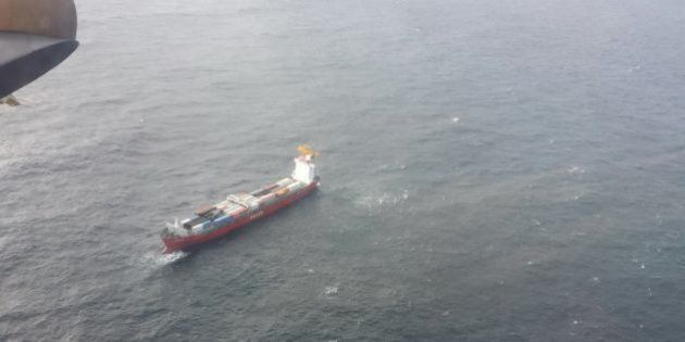 Container Ship Adrift Off B.C. North