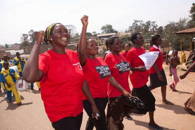 CC4RHE Women participate in a march marking International Women's Day in Mubende, Uganda, East