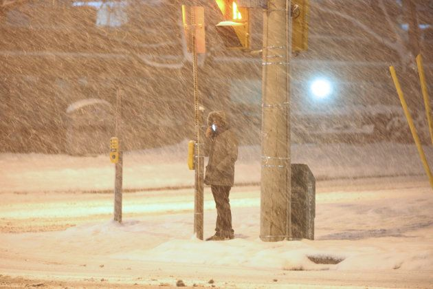 The Greater Toronto Area is covered in 15-20 centimeters of snow during a snowstorm on Dec. 24,