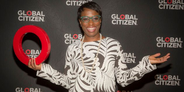 Canadian Member of Parliament Celina Caesar-Chavannes arrives at the Education In The Spotlight at Global...