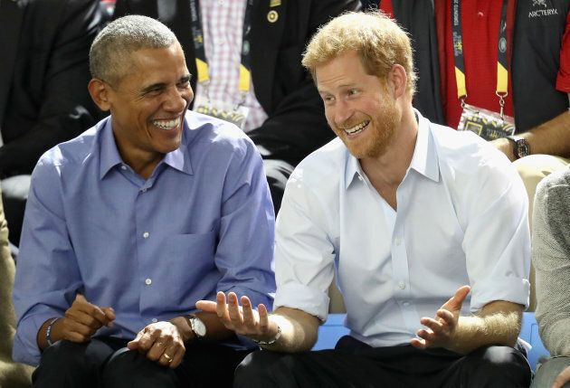 Barack Obama and Prince Harry at the Invictus Games in Toronto, September