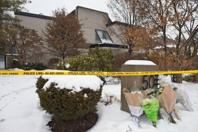 Forensic investigators continued their activities at 50 Old Colony Road on Dec. 18 following the suspicious...