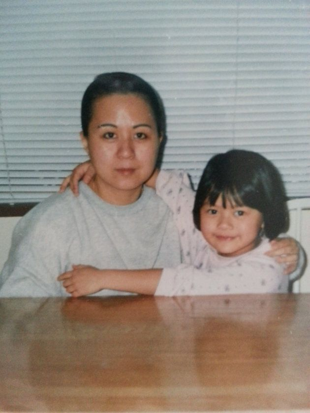 My mom and I when I was six or seven.