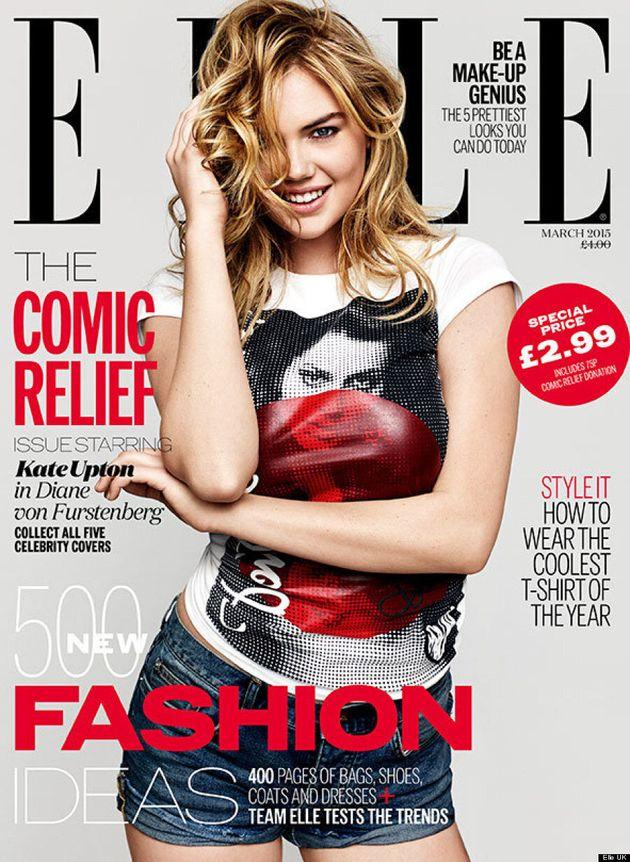 Kate Upton Gets Playful On Elle UK Comic Relief