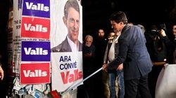 Valls lance la campagne officielle à Barcelone en collant des