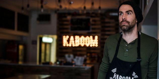 Chris Stevens, owner of Kaboom Chicken restaurant, poses for a photograph in Toronto on Dec. 29,