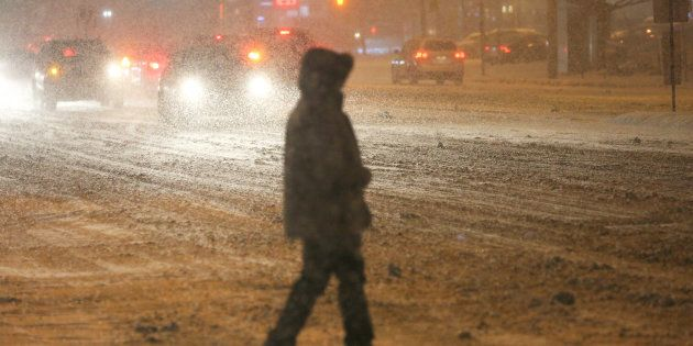 The Greater Toronto Area was covered in 15-20 centimeters of snow during a snowstorm in Toronto on Dec....